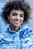 retrato da menina afro-americano de sorriso Imagem de Stock Royalty Free