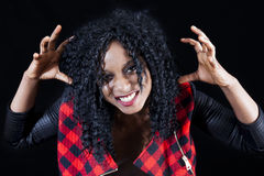 Retrato da menina afro-americano nova bonita imagens de stock royalty free