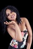 Retrato da menina afro-americano nova bonita fotos de stock