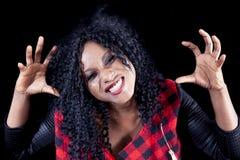 Retrato da menina afro-americano nova bonita foto de stock royalty free