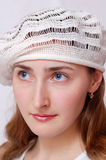 Retrato da menina agradável Imagem de Stock Royalty Free