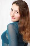 Retrato da menina agradável Imagem de Stock