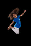 Retrato do salto americano africano novo da menina Imagens de Stock