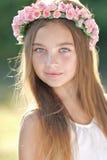 Retrato da menina ao ar livre Fotografia de Stock Royalty Free
