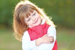 Retrato da menina ao ar livre Foto de Stock Royalty Free