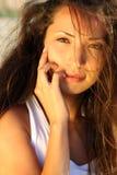 Retrato da menina asiática nova Imagens de Stock