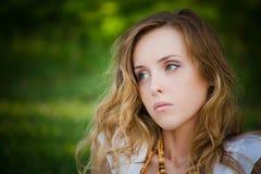 Retrato da menina bonita foto de stock