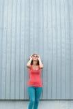 Retrato da menina bonita fotografia de stock
