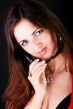 Retrato da menina bonita com óculos de sol Imagem de Stock