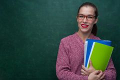Retrato da menina bonita do estudante Imagens de Stock Royalty Free