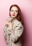 Retrato da menina bonita do redhead Fotografia de Stock
