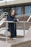 Retrato da menina bonita do russo no parque Fotos de Stock Royalty Free