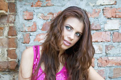 Retrato da menina bonita nova Imagens de Stock Royalty Free