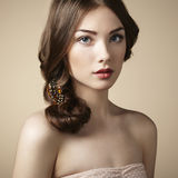 Retrato da menina bonita nova Fotografia de Stock