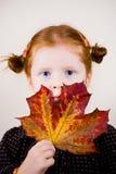 Retrato da menina bonito do redhead Fotografia de Stock