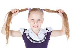 Retrato da menina com cabelo longo Imagem de Stock Royalty Free