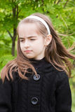 Retrato da menina com cabelo longo Fotos de Stock Royalty Free
