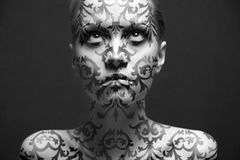 Retrato da menina com composição Imagem de Stock Royalty Free