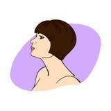 Retrato da menina com prumo ilustração royalty free