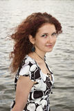Retrato da menina curly Imagem de Stock Royalty Free
