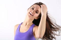 Retrato da menina da beleza com cabelo longo imagem de stock royalty free