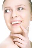 Retrato da menina da beleza do Close-up imagem de stock