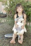 Retrato da menina da criança de 10 anos Imagem de Stock