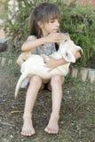 Retrato da menina da criança de 10 anos Imagens de Stock Royalty Free