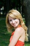 Retrato da menina de sorriso Foto de Stock