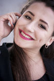 Retrato da menina de sorriso imagem de stock