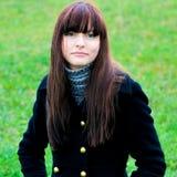 Retrato da menina de sorriso bonita Imagem de Stock