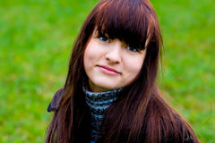 Retrato da menina de sorriso bonita Foto de Stock Royalty Free