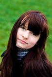 Retrato da menina de sorriso bonita Fotografia de Stock
