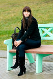 Retrato da menina de sorriso bonita Foto de Stock