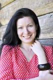 Retrato da menina de sorriso bonita nova, exterior Foto de Stock