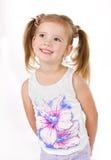Retrato da menina de sorriso bonito imagens de stock
