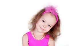 Retrato da menina de sorriso bonito imagem de stock