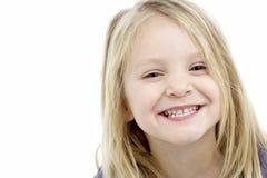Retrato da menina de sorriso dos anos de idade 4 Imagens de Stock Royalty Free