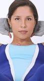 Retrato da menina do Aerobics Fotos de Stock