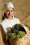 Retrato da menina do camponês do renascimento Fotos de Stock Royalty Free