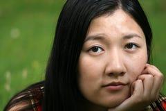 Retrato da menina do chinês tradicional imagens de stock