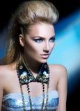 Retrato da menina do estilo do balancim Fotos de Stock Royalty Free