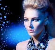 Retrato da menina do estilo do balancim Imagem de Stock Royalty Free