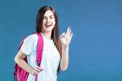 Retrato da menina do estudante fotos de stock royalty free