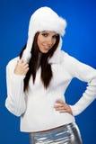 Retrato da menina do inverno Fotografia de Stock