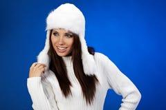 Retrato da menina do inverno Imagem de Stock Royalty Free