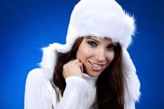 Retrato da menina do inverno Imagem de Stock
