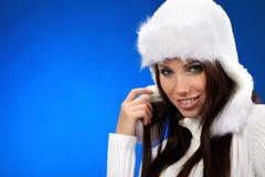 Retrato da menina do inverno Fotos de Stock