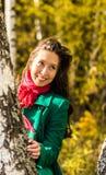 Retrato da menina do outono Foto de Stock Royalty Free