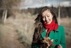 Retrato da menina do outono Foto de Stock